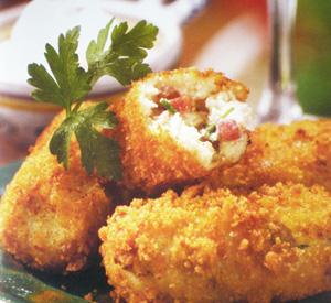 Crocchette di pollo al prosciutto