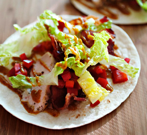 Piadina con pollo e bacon