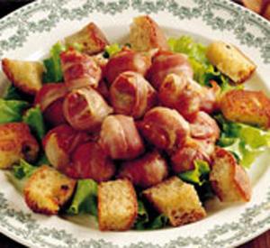 Bocconcini di pollo avvolti nel bacon