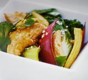 Pollo con cavolo cinese