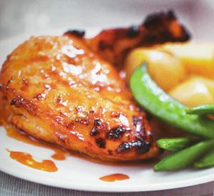 Pollo glassato al lime