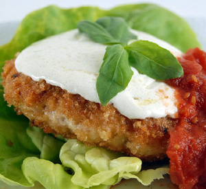 Hamburger di pollo all'italiana