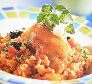 Pollo con riso alla greca