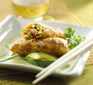 Involtini primavera al pollo e avocado – Spring rolls
