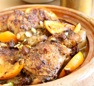 Tajine di pollo all'arancia
