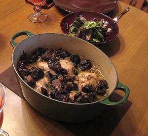 Pollo marocchino alle prugne