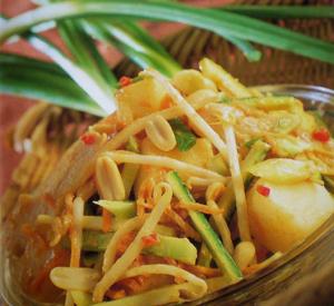 Insalata indonesiana di pollo e patate