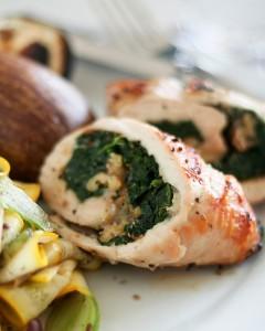Involtini di pollo spinaci e gorgonzola