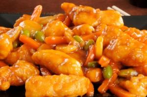 Pollo al succo di arancia e carote